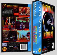 Mortal Kombat - Sega Cd Reproduction Art Dvd Case No Game