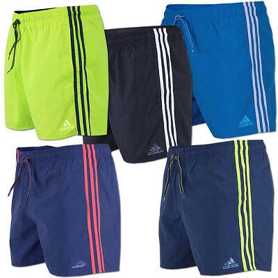 adidas Herren 3 Streifen Badeshorts Badehose Swim Shorts Schwimmhose | eBay