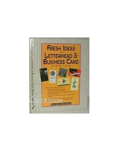 Fresh Ideas in Letterhead and Business Card Design Paperback Book The Fast Free