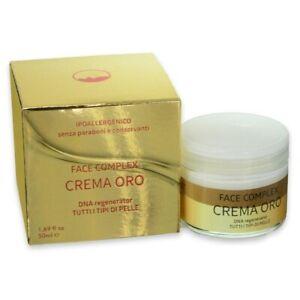 Crema Viso Oro Face Complex Rigenera DNA Pelle Viso Aumenta Collagene 50 ml