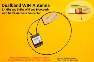 70cm MHF4 Laptop Embedded Dualband Antenna Antenne WIFI WLAN Bluetooth NGFF/M.2