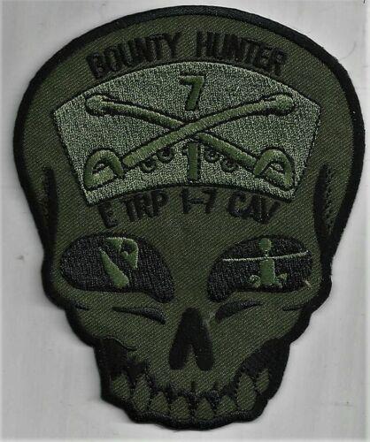 US ARMY E TROOP 1-7 CAVALRY PATCH /'BOUNTY HUNTER/'                      DUTY