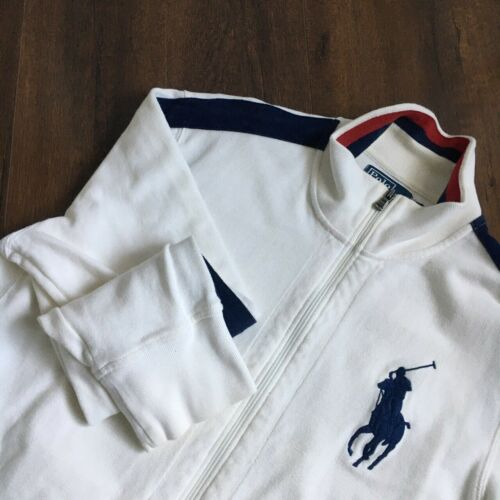 POLO RALPH LAUREN red white blue collared jacket