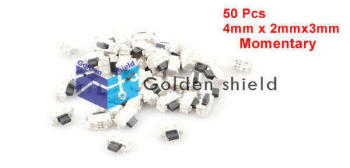 50Pcs SPST Momentary Push Button SMD SMT Tactile Tact Switch 4mm x 2mm
