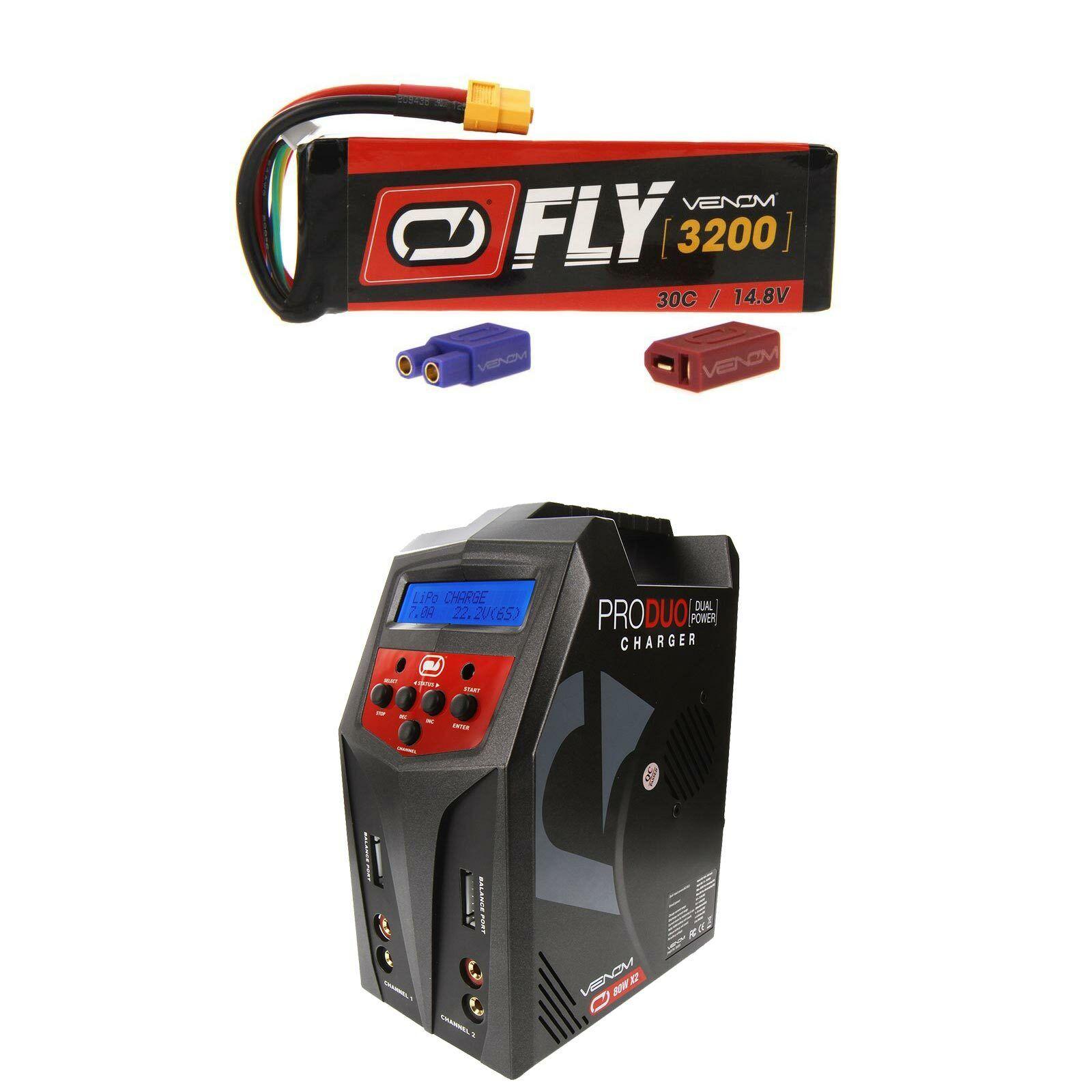 Venom volar 30C 4S 3200mAh 14.8V Batería Lipo Y Cargador Combo Pro Duo