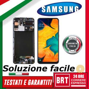 DISPLAY-LCD-TOUCH-SCREEN-FRAME-SAMSUNG-GALAXY-A30S-SM-A307F-6-4-034-VETRO-SCHERMO