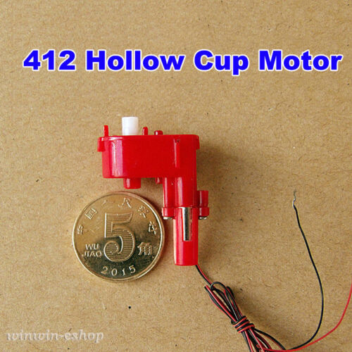 DC 3V 3.7V 300RPM Micro Worm Gear Motor 4*12mm Mini Coreless DC Motor DIY Toys