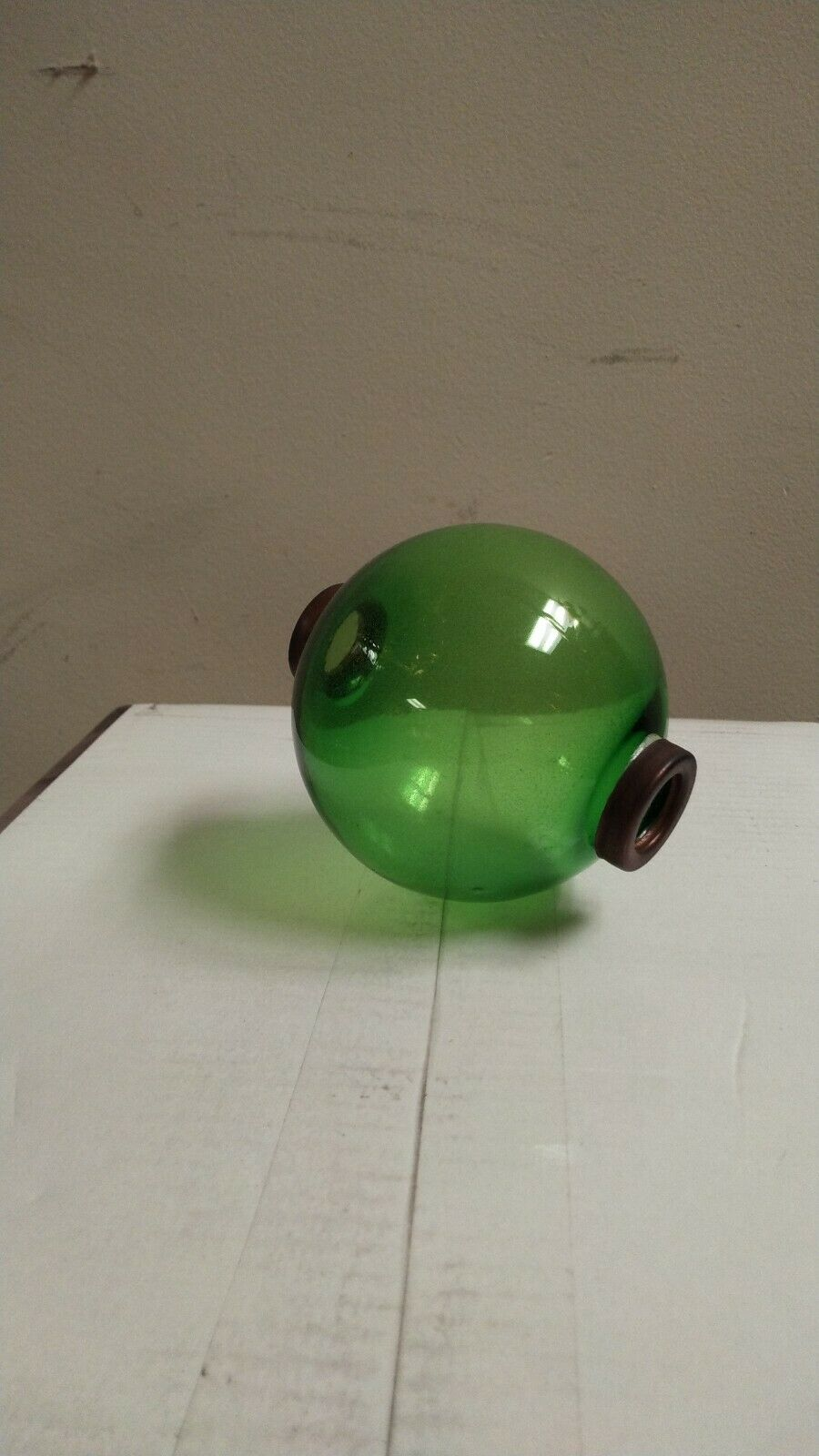 4.5'' green GLASS BALL for weathervane OR LIGHTENING RODS fits 3/4'' rod