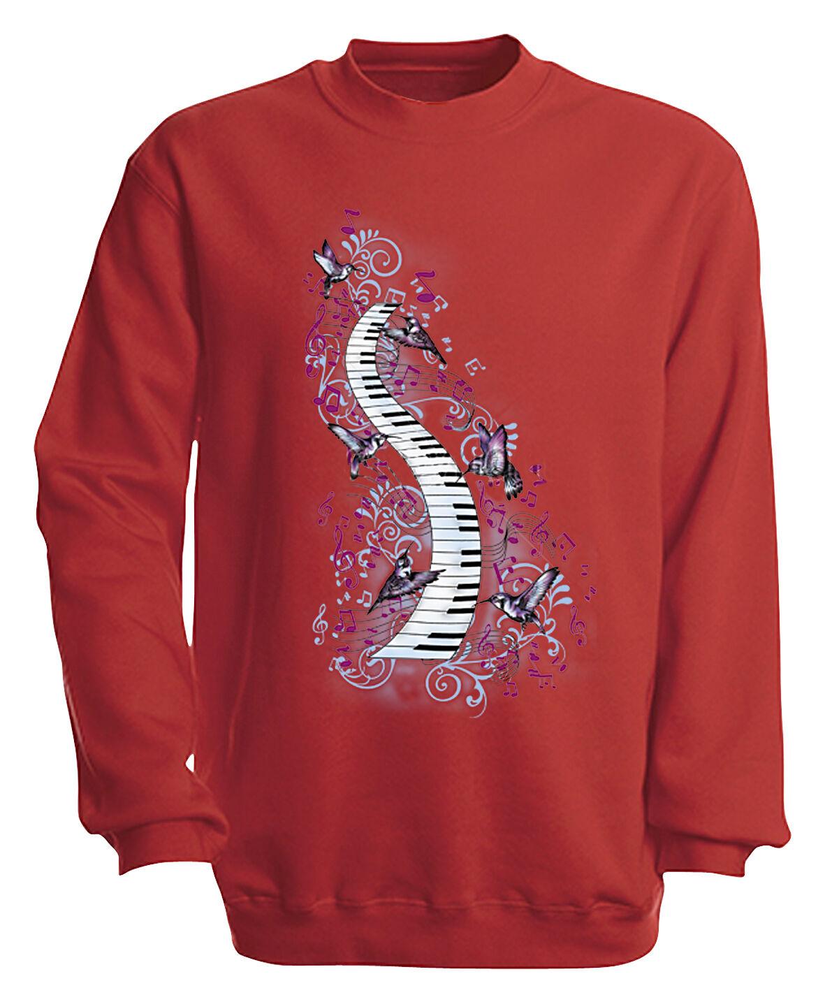 09018-1  Rosso Felpa S M L 3xl XL XXL 3xl L 4xl musica shirts-TASTI PIANOFORTE a720a2