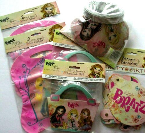 Bratz Dolls Birthday Party Supplies Kit 8 Tiaras Purses 16 Loot Bags 1 Banner
