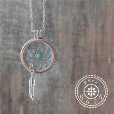 :) Dream Catcher Love Aromatherapy Essential Oil Diffuser Locket Necklace XoxO