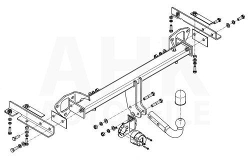 AHK Anhängerkupplung starr+ES 7p uni Für Subaru Forester 08-13 Kpl