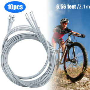 Zinc Bicycle Brake Derailleur Shifter Shift Cable Inner Wire Durable 10x Steel