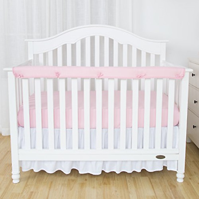 1 Pack Padded Baby Crib Rail Cover Silky Soft Microfiber