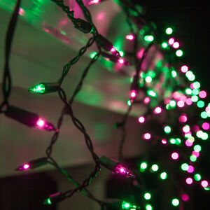 Purple-Green-Halloween-Net-Icicle-Party-String-Lights-Black-Wire-Connectable