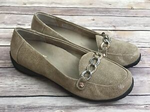 Vionic-Alda-Saddle-Lizard-Chain-Vamp-Loafers-Size-39-5-US-8-5