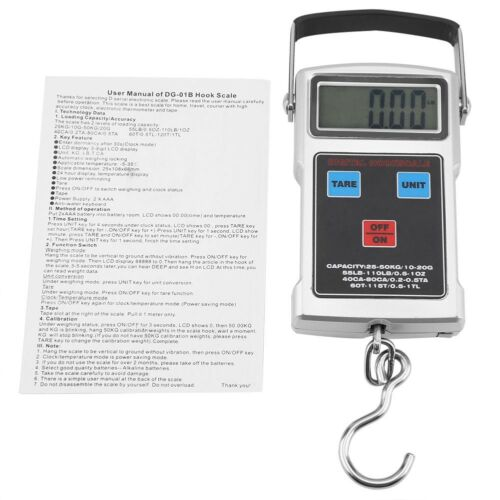 50Kg//150kg 10//100g Electronic LCD Digital Hanging Luggage Weight Hook Scale Tool