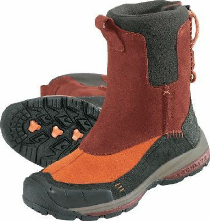 Columbia Bugapowder water resistant Thinsulate Leder Stiefel ROT 5M NIB 112