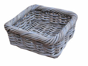 Perfect Image Is Loading Grey Amp Buff Rattan Square Storage Basket Tray