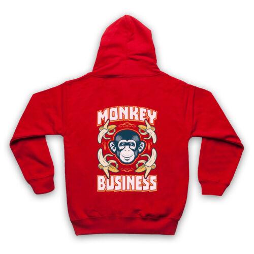MONKEY BUSINESS FUNNY COMEDY SLOGAN APE COOL ADULTS KIDS HOODIE
