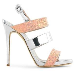 Details Sur Giuseppe Zanotti Barbie Sandales Uk 5 Escarpins Talons Bal Chaussures Argent Rose Neuf 550 Afficher Le Titre D Origine