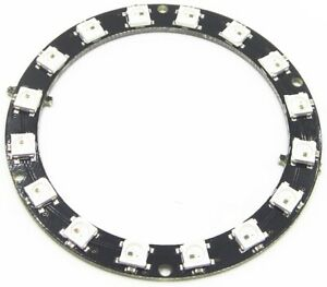 Details about 16 Pixel WS2812 5050 RGB LED Ring Strip Works with NeoPixel  Library