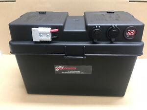 battery box 12v 100ah 130ah agm deep cycle dual battery system usbimage is loading battery box 12v 100ah 130ah agm deep cycle