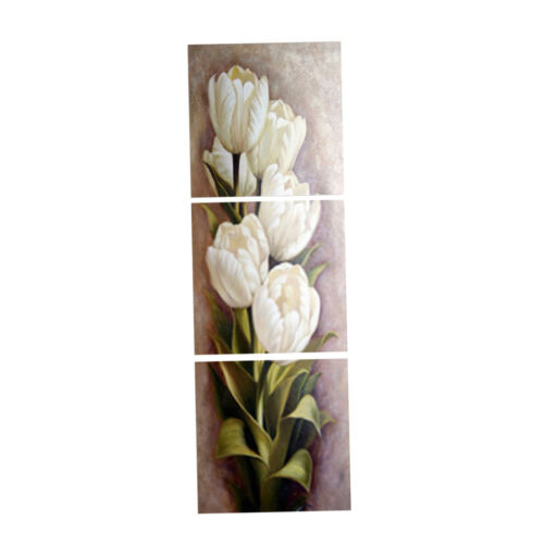 Floral Canvas Art Tulip Flower Wall Painting Bedroom 3 Panels Print Decor