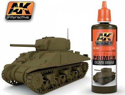 Ak Interactive AKI 182 Olive Drab Acrylic Primer 60ml Bottle