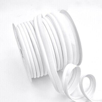Large Jumbo Bias Piping Plain White 2 Upholstery Flanged Insertion Trim