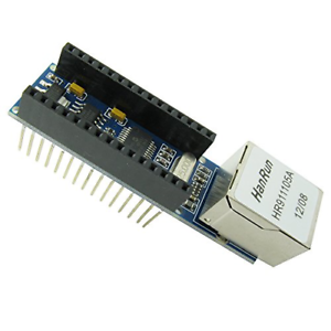 ENC28J60 Ethernet Shield for Arduino Nano V3.0 RJ45 Webserver Module 51 AVR SPI