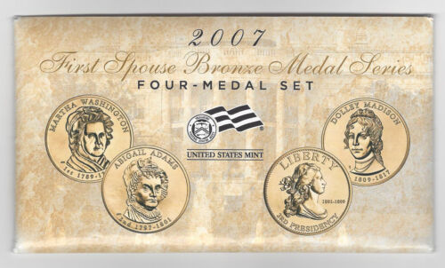 2007 First Spouse Bronze Medal Series MEDAL SET FOUR