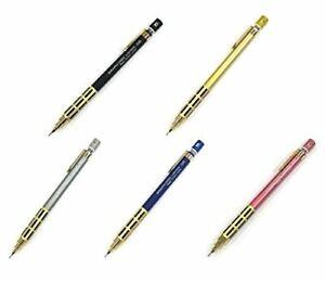 Loft-Limitado-Pentel-Grafico-1000-Sharp-Lapiz-0-5mm-Oro-Agarre-Negro