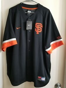 wholesale dealer 91889 41205 Details about NEW San Francisco Giants Jersey Black Nike Team Authentic MLB  Baseball Size XL