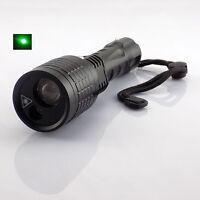 Led Flashlight +green Laser Pointer Search Light 800 Lumen Flash Light Tactical