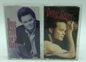 Lot of 2 Doug Stone Cassette Tapes Country I Thought It Was You / From The Heart