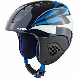 Alpina Kinder Skihelm, Ski Helm CARAT Gr: 51 - 55 cm nightblue