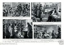 Tscheka Kunstdruck 1928 Geheimpolizei Russland Gulag Arbeitslager Gefängnis