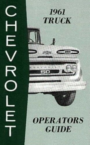 CHEVROLET 1961 Truck Owner/'s Manual 61 Chevy Pick Up