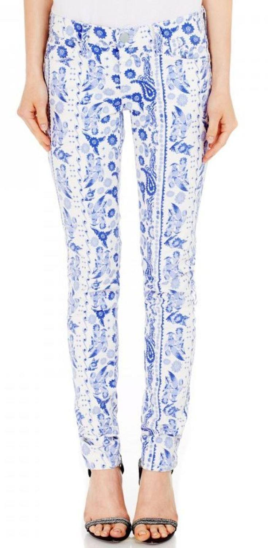 Rebecca Minkoff Damen Bleecker Blau Mehrfarbig Skinnny Jeans U13c5001 Nwt