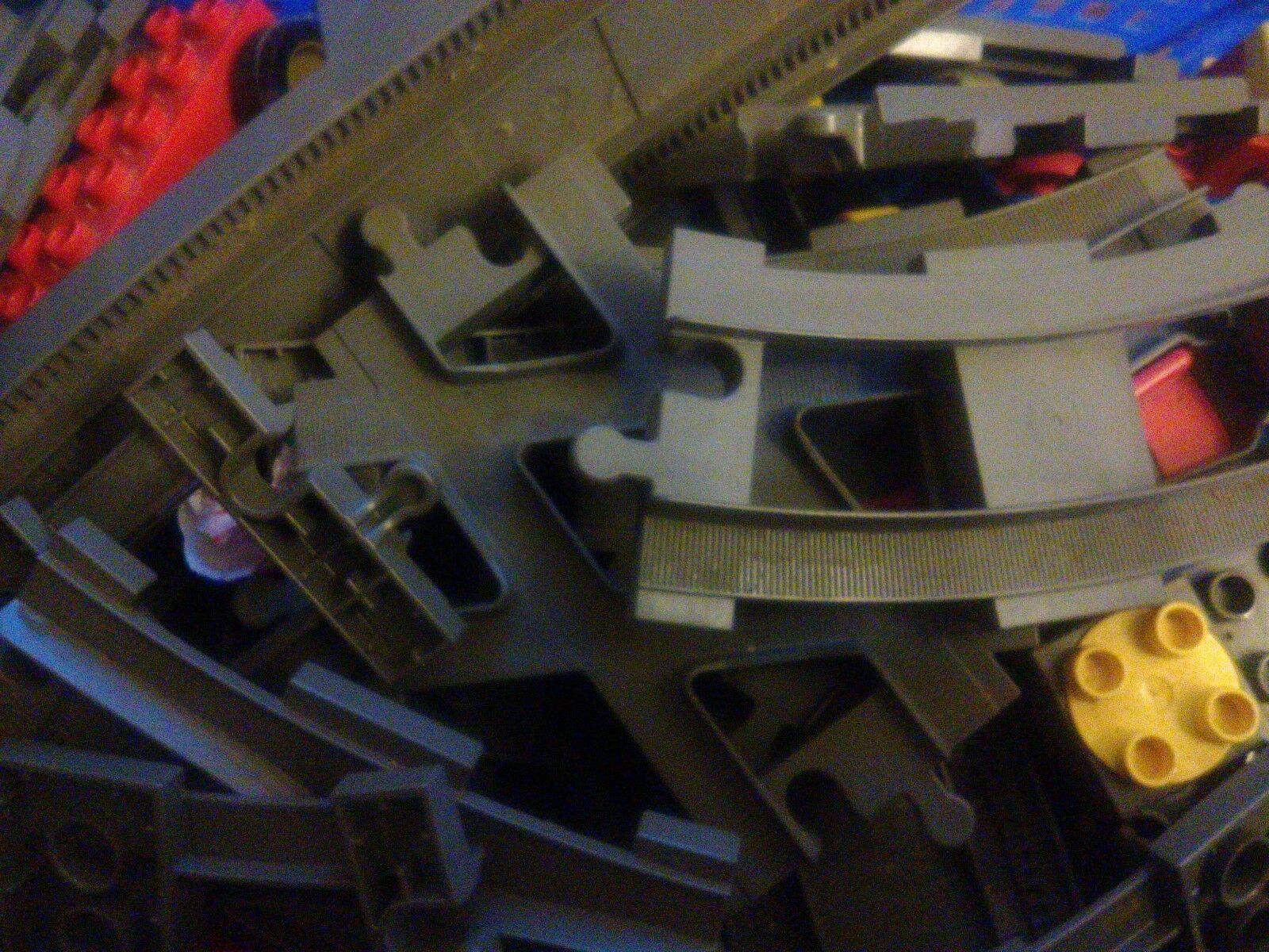 Large Lot of Duplo Train Set inc. long bridge, points, motorised train base
