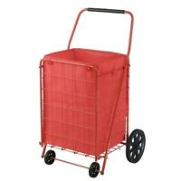 4 Wheel Utility Cart With Liner Grocery Garden Metal Wagon Shopping Folding Lbs