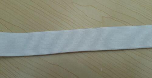 25 Mm Nuevo Tejido Plano Blanco Costura Banda de la Cintura Elástico Ancho 2.5 Cm