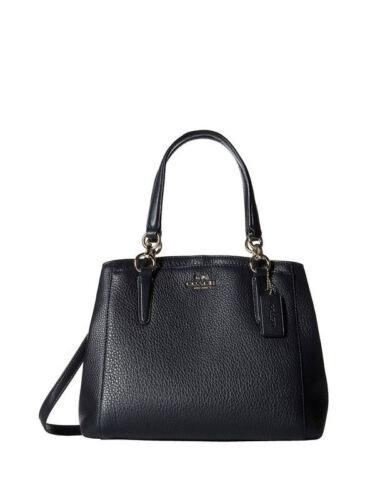 NWT Coach Pebble Leather Minetta Crossbody Handbag Navy #37157M