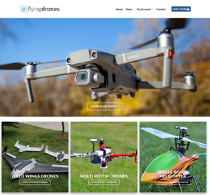 Flying-Drones-Website-Business-Earn-895-A-SALE-FREE-Domain-Hosting-Traffic