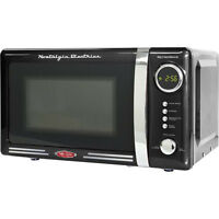 Nostalgia Electrics 0.7 Cu. Ft. 700W Retro Series Countertop Microwave Oven RMO770BLK Color Black Microwave Ovens