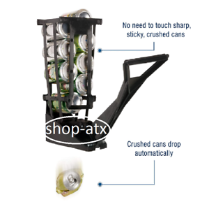 Recycling Heavy Duty Aluminum 10 Can Crusher In Seconds Rust-Proof Wall Mount