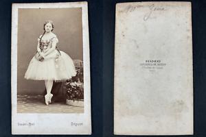 Disdéri, Paris, Zina Mérante, danseuse Vintage cdv albumen print.Zinaïda Josef