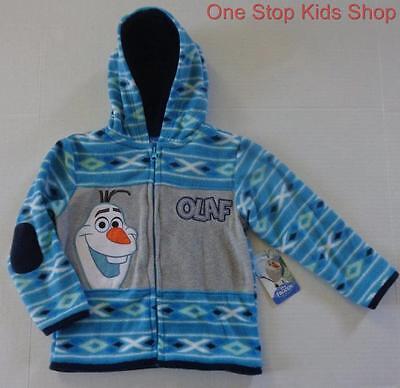 OLAF The Snowman Boys 2T 3T 4T 5T Disney FLEECE HOODIE Coat Jacket Frozen