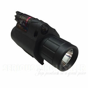 Tactical Red Laser Sight Flashlight Combo Suit For 20mm